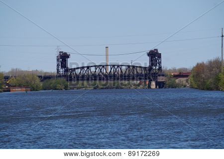 Train Crossing a Bridge over a River