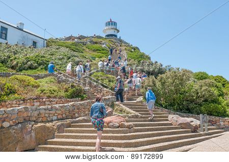 Climb From Funicular To Historic Lighthouse At Cape Point
