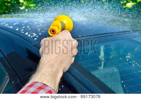 Car Care - Washing a car by hand