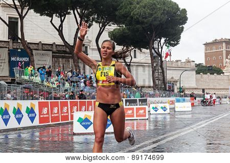 Girl At The Finish Line