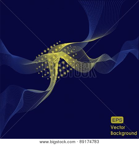 Blue And Yellow Design Vector Background