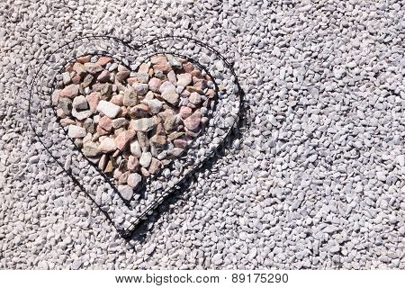 Heart filled with stones
