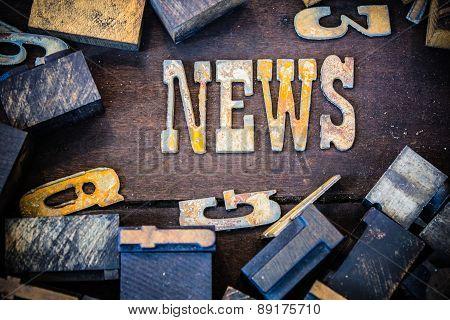 News Concept Rusty Type