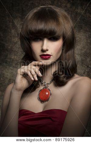 Mysterious Brunette