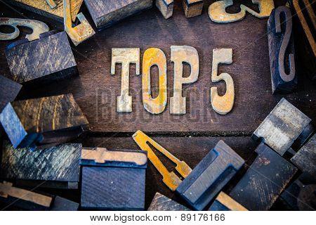 Top 5 Concept Rusty Type