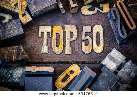 Top 50 Concept Rusty Type