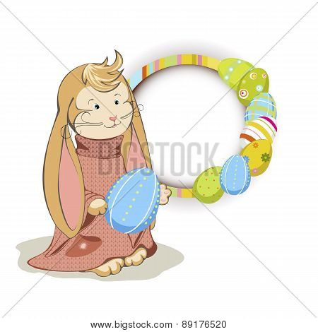 Easter Bunny with frame