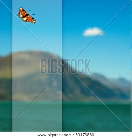 Vector Blurred Landscape Background.