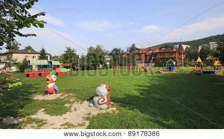 Playground at the Sanatorium Belokuriha