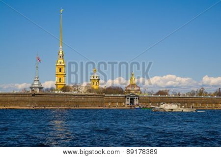 Russia, St. Petersburg. Peter And Paul Fortress.