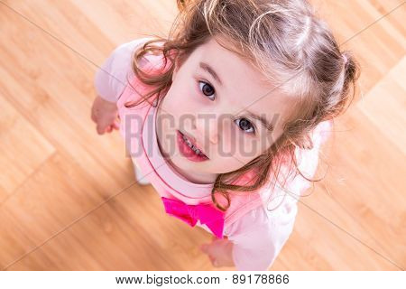 Pretty Little Girl With Beseeching Eyes