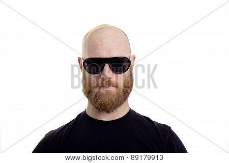 criminal burgler beard and black hat isolated on white background