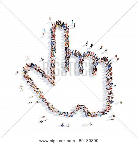 people in the form of cursor.