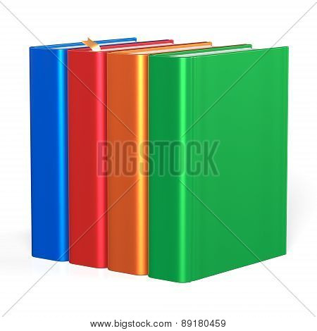 Four Books Educational Textbooks Bookshelf Bookcase