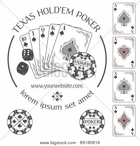 Poker emblem and design elements.
