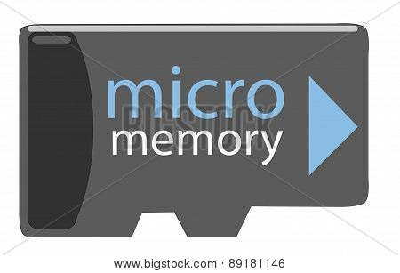 Micro SD memory. Vector Illustration