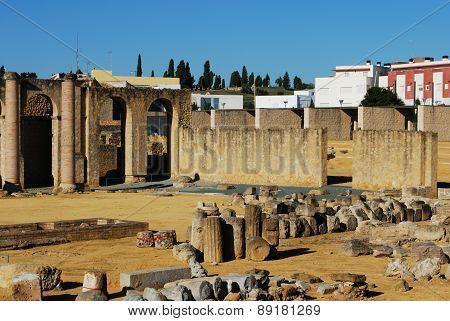 Roman theatre ruins, Santiponce.