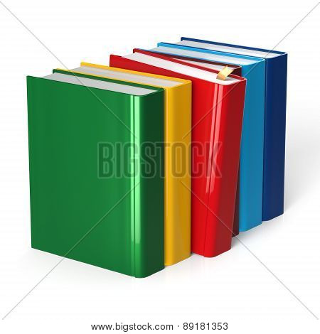 Books Row Colorful Red Selecting Take Choosing Blank Cover