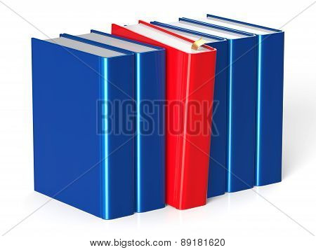 Books Row One Red Selected Leadership Textbook Individual