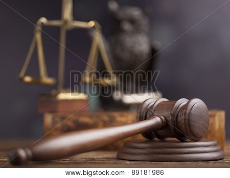 Gavel,Law theme, mallet of judge