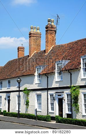 White cottages, Stratford-upon-Avon.
