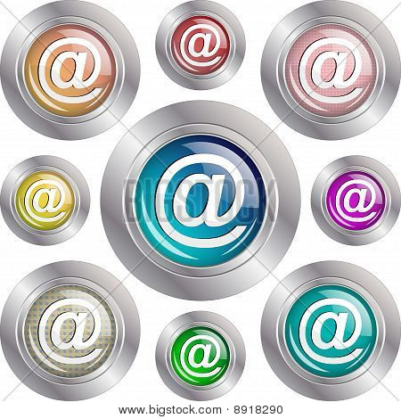 Address glossy buttons