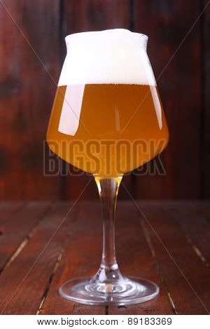 Wheat Beer On Wood