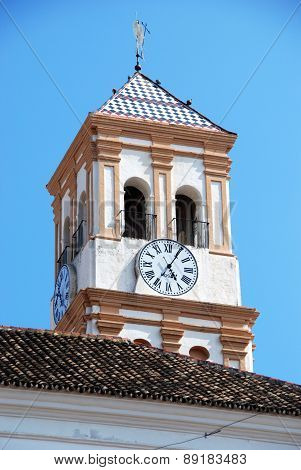 Church clock tower, Marbella.