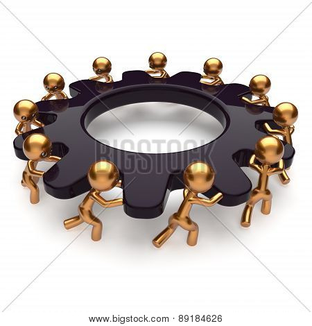 Partnership Teamwork Business Unity Brainstorm Process Icon
