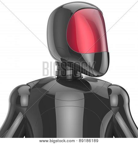 Cyborg Futuristic Artificial Model Robot Sci-fi Bot Concept Black