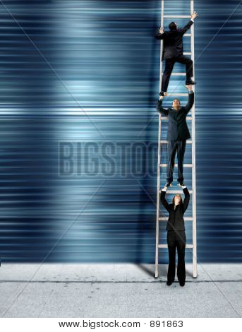 Corporate Ladder - Blue Version