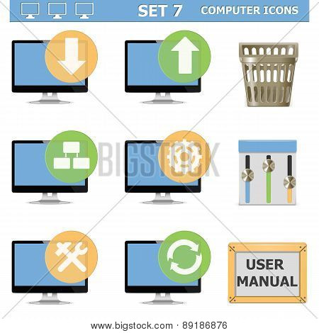 Vector Computer Icons Set 7