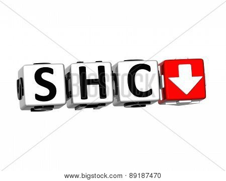 3D Shc Stock Market Block Text On White Background