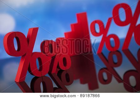 Percentage, Concept of discount colorful tone