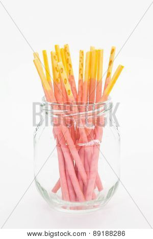 Biscuit stick strawburry coated