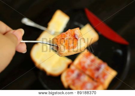Bread, Butter And Strawberry Jam