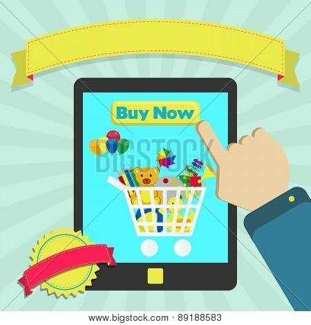 Buy Toys Online Through Tablet