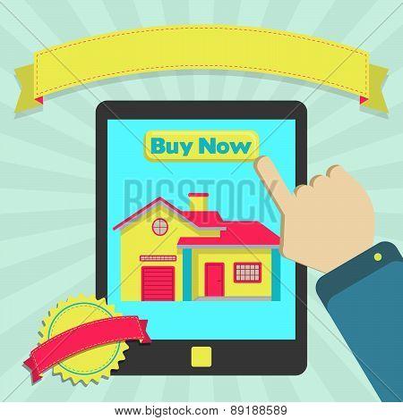 Buy House Online Through Tablet