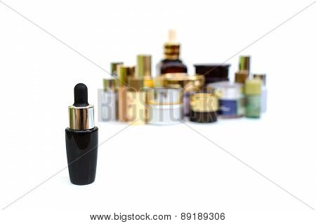 Set Of Various Cosmetics For Skin Care