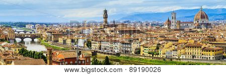 Florence, Italy - view of the city and Cathedral Santa Maria del Fiore, panorama