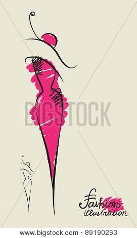vector fashion silhouette