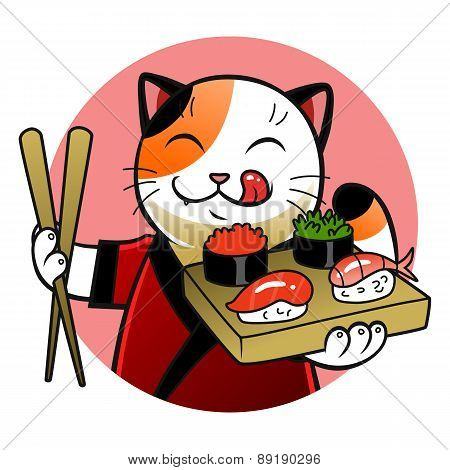 Sushi Chief Cat