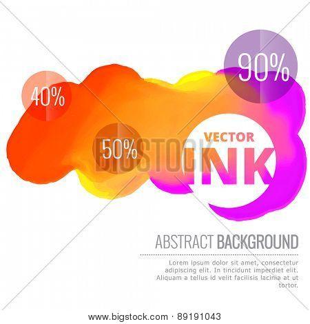 colorful ink splash flowing vector design background illustration