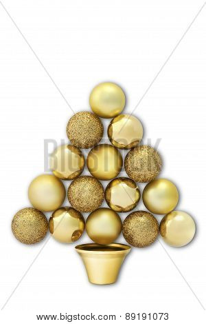 Christmas tree formed by balls