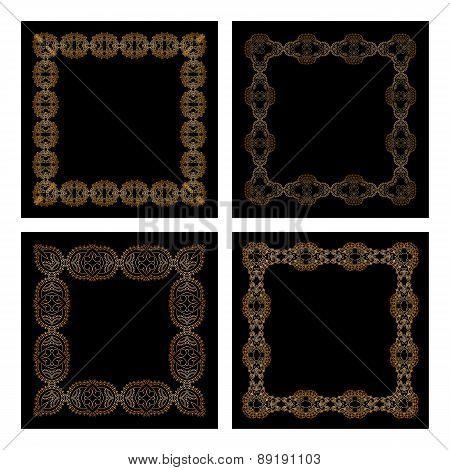 Vector Set Of Vintage Frames.