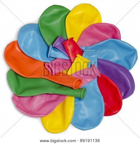 Balloons In A Large Amount In The Form Of A Flower