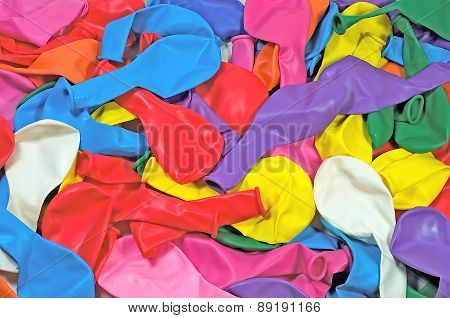 Colorful Balloons On The Table