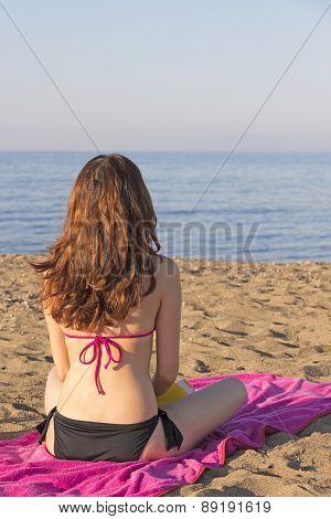 Woman Watching The Sea