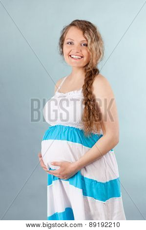 Portrait of beautiful pregnant woman, photo by  studio ** Note: Soft Focus at 100%, best at smaller sizes