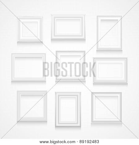 Vector Set Of White Frames.